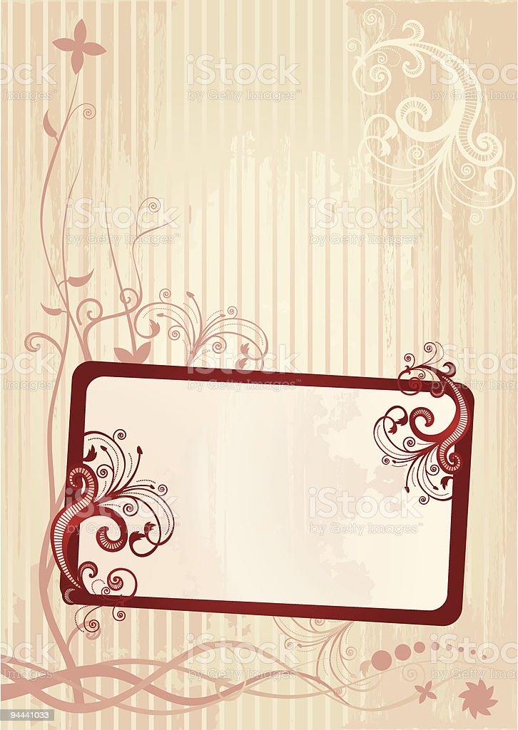 Vector illustration of a floral frame royalty-free vector illustration of a floral frame stock vector art & more images of abstract