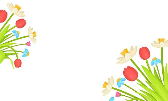 Vector illustration of a flower banner.