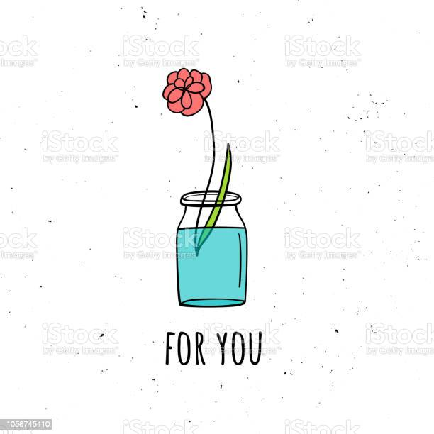 Vector illustration of a flower in a glass jar scandinavian style vector id1056745410?b=1&k=6&m=1056745410&s=612x612&h=sqweheqlg6mtqtqinfxvc9fpavfsx5lqnmqogwkc4uo=