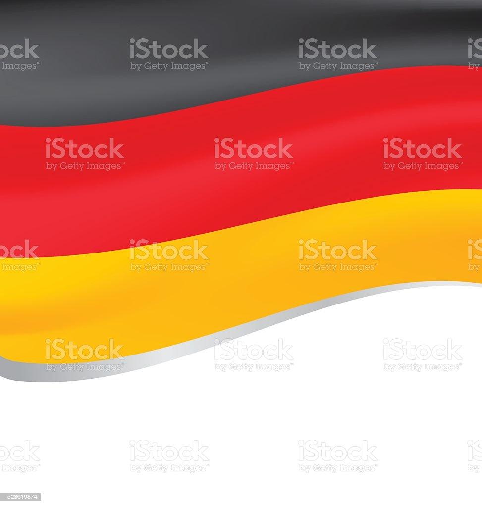 Vector illustration of a flying flag of Germany vector art illustration