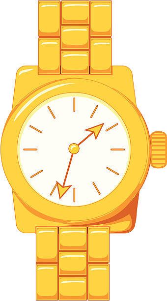 royalty free gold wrist watch clip art vector images