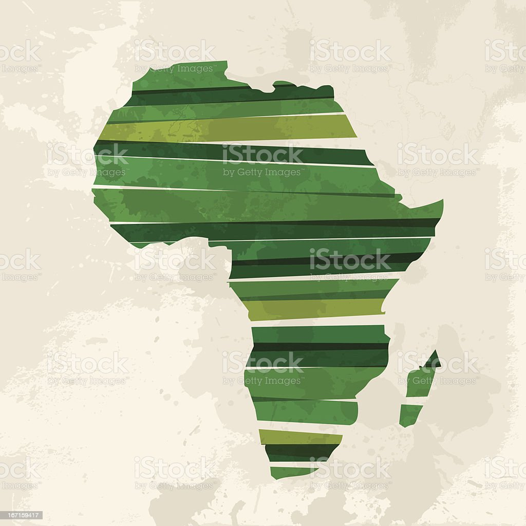 Vector illustration of a green African continent vector art illustration