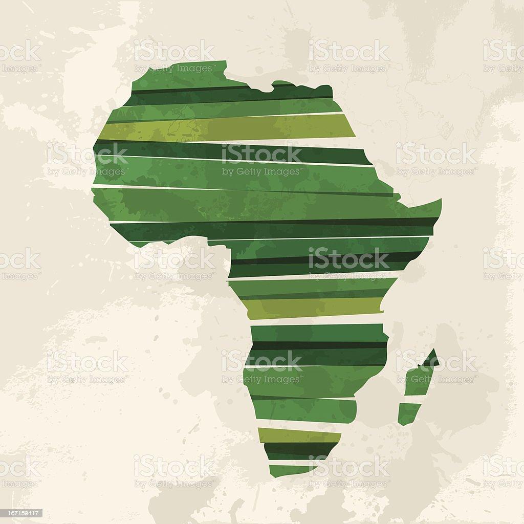 Ilustração em vetor de um green continente africano - ilustração de arte em vetor