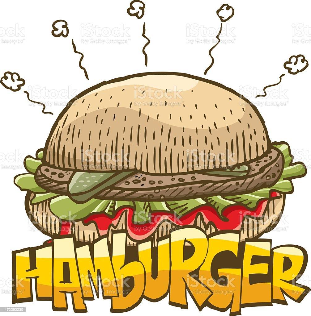 Vector illustration of a hamburger royalty-free stock vector art
