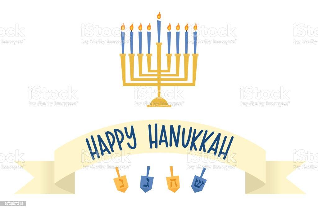 Vector illustration of a Hanukkah greeting vector art illustration