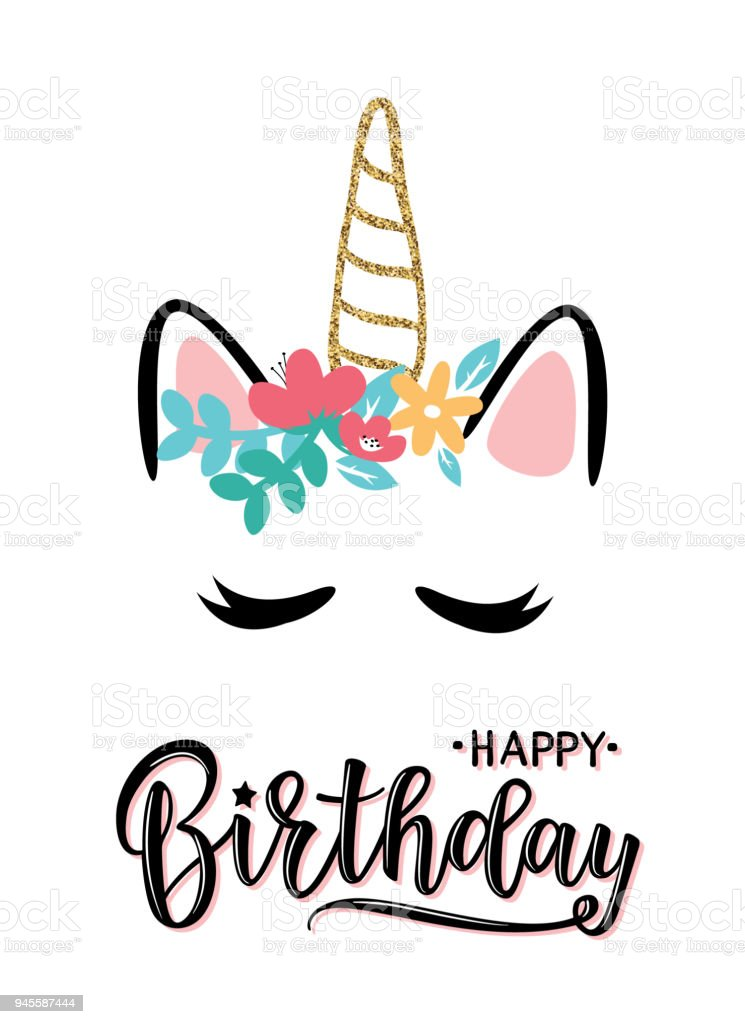 Image result for kitty unicorn happy birthday clipart