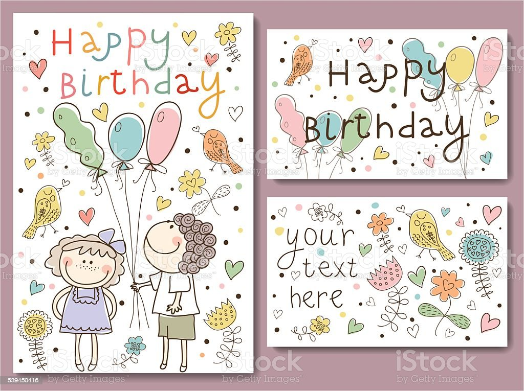 Vector Illustration of a Happy Birthday royalty-free vector illustration of a happy birthday stock vector art & more images of abstract