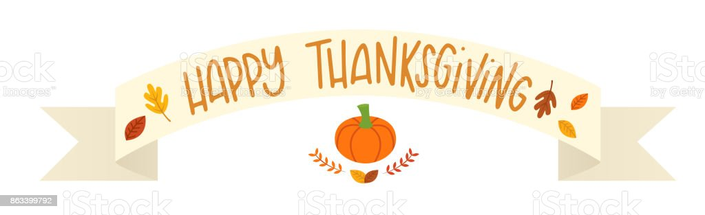 Charming Thanksgiving Banner Part - 9: Vector Illustration Of A Happy Thanksgiving Banner Royalty-free Vector  Illustration Of A Happy Thanksgiving
