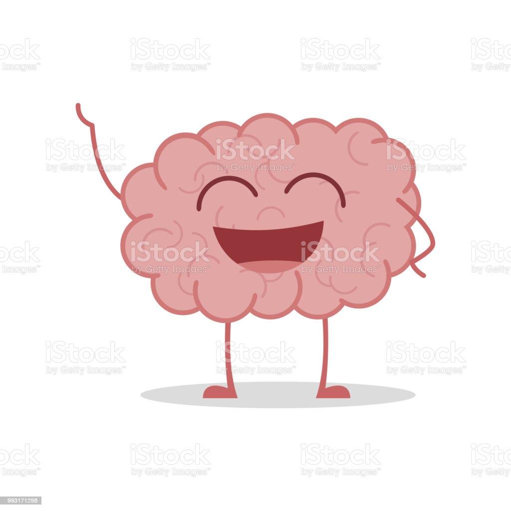 Ilustración de Ilustración De Vector De Un Cerebro Sano Y Divertido ...