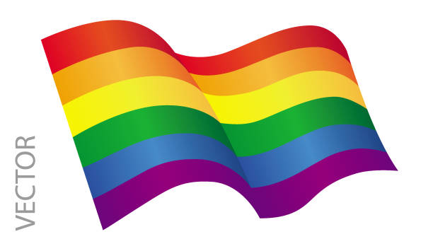 stockillustraties, clipart, cartoons en iconen met vectorillustratie van een lgbt-vlag op een witte achtergrond - lgbt flag
