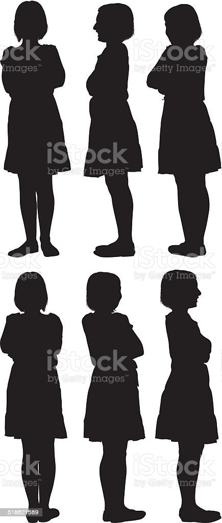 Vector illustration of a little girl vector art illustration