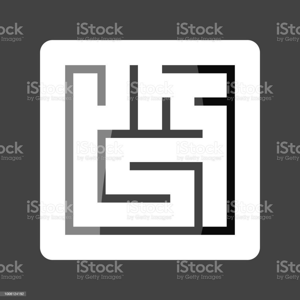 迷路色ステッカーのベクター イラストです簡単編集図のレイヤーをグループ化あなたのデザイン あこがれのベクターアート素材や画像を多数ご用意 Istock