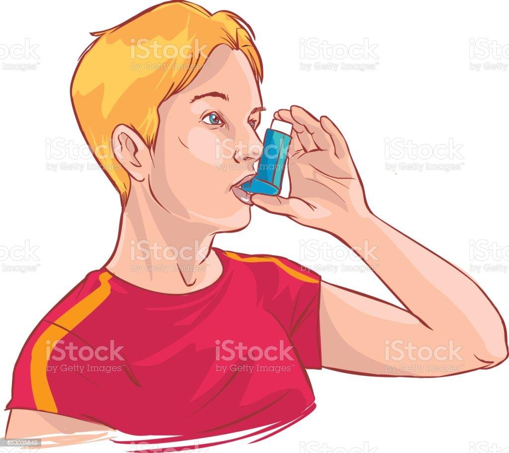 Vector Illustration Of A Medical Anatomy Of Asthma Stock Vector Art ...