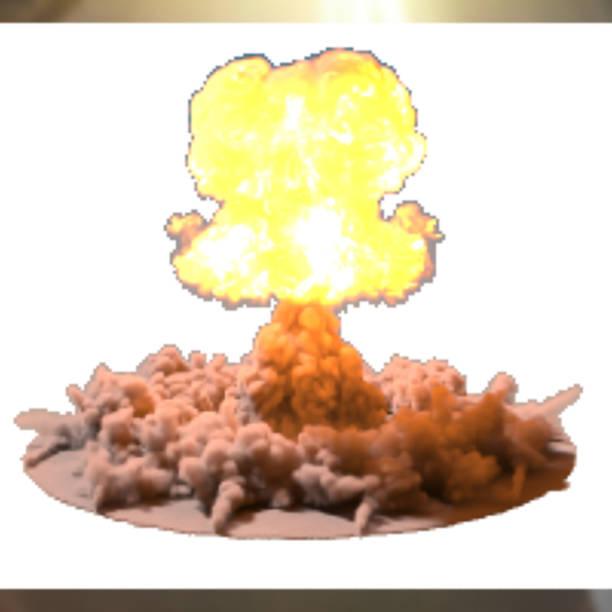 vector illustration of a mushroom cloud following  nuclear explosion on - hiroshima stock illustrations