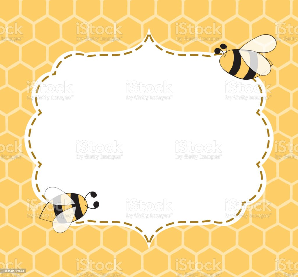 Vector Illustration Of A Natural Background With Honeycombs Bees Frame Hand  Drawn Stock Illustration - Download Image Now