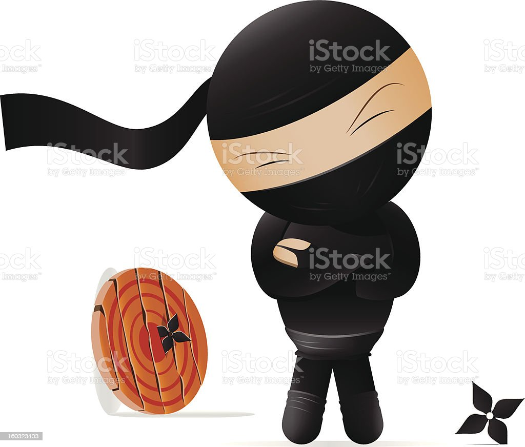 Vector illustration of a ninja! royalty-free vector illustration of a ninja stock vector art & more images of accuracy
