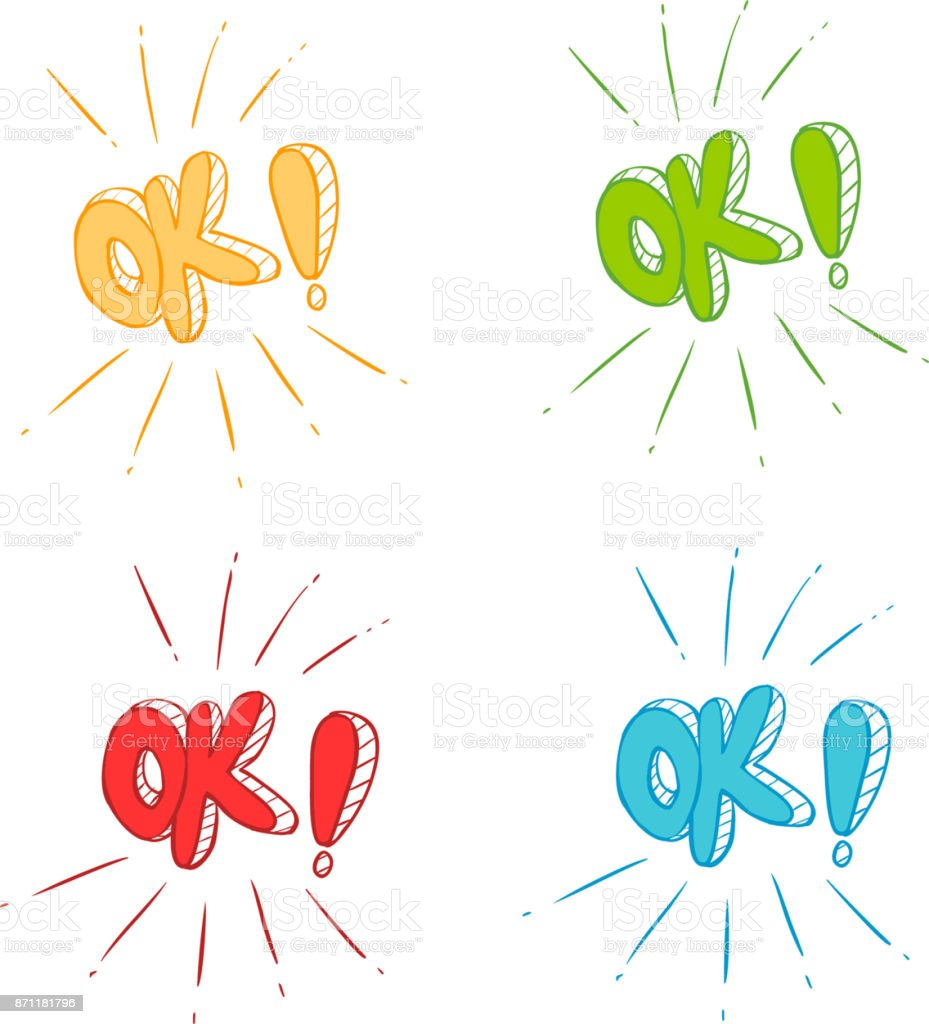 vector illustration of a Ok symbol signs vector art illustration
