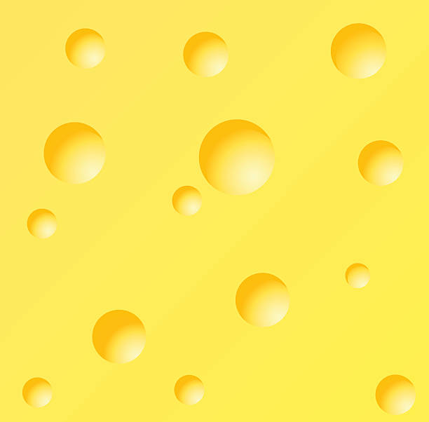 stockillustraties, clipart, cartoons en iconen met vector illustration of a piece of cheese - dikke pizza close up