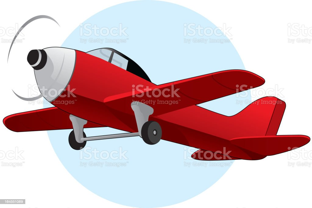Vector illustration of a red airplane royalty-free stock vector art