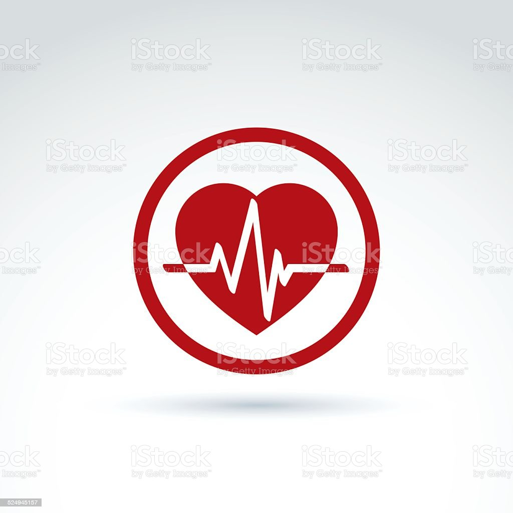 Vector illustration of a red heart symbol with an ecg stock vector vector illustration of a red heart symbol with an ecg royalty free vector illustration of biocorpaavc Gallery