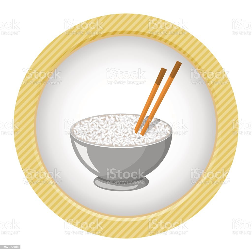 Vector illustration of a Rice Bowl and chopstick royalty-free vector illustration of a rice bowl and chopstick stock vector art & more images of chopsticks