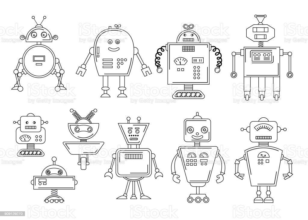 Ilustración de Ilustración De Vector De Un Robot Diseño De Carácter ...