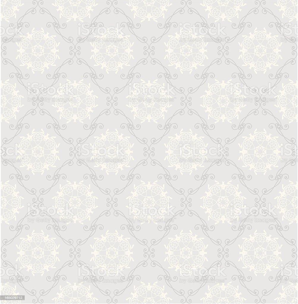Vector illustration of a seamless white retro wallpaper vector art illustration