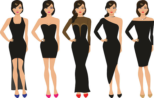 Vector illustration of a set of evening dresses ベクターアートイラスト