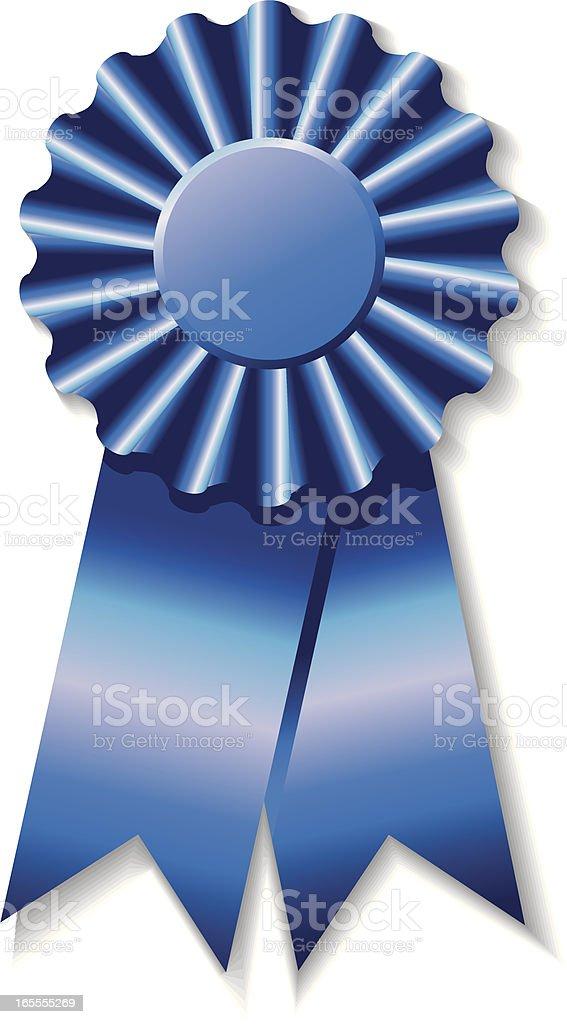 Vector illustration of a shiny blue award ribbon royalty-free stock vector art