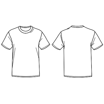 tshirt templates stock illustrations