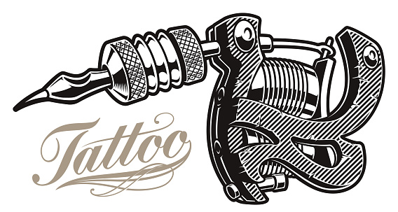 Vector illustration of a tattoo machine