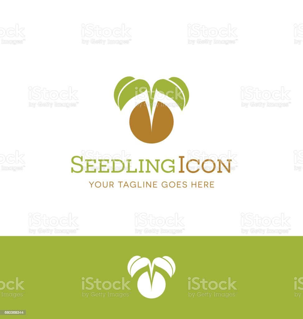 vector illustration of a tiny plant emerging from seed. symbol for plant nursery, organic farming, vegan, gardening royalty-free vector illustration of a tiny plant emerging from seed symbol for plant nursery organic farming vegan gardening stock vector art & more images of agriculture