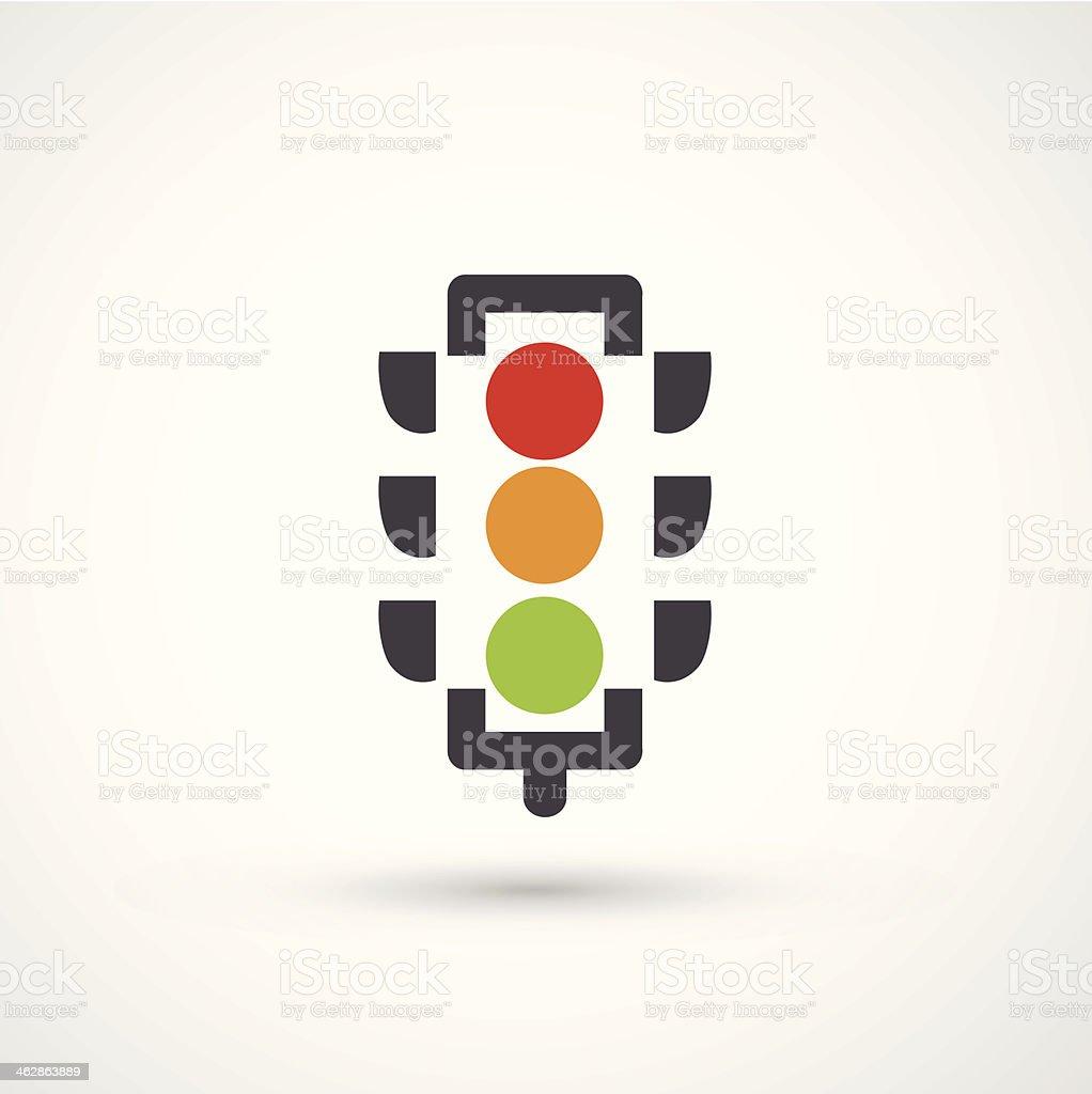 Vector illustration of a traffic light vector art illustration