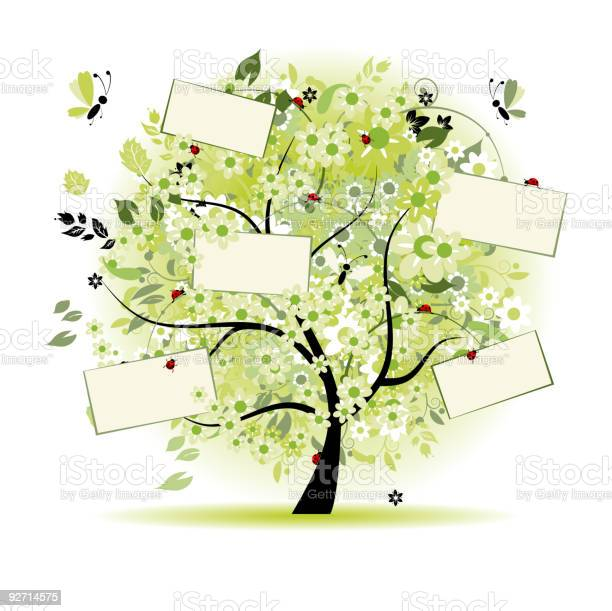 Vector illustration of a tree with floral cards for text vector id92714575?b=1&k=6&m=92714575&s=612x612&h=vw5hhf6kkd1pvgponsdvlbu65no6hu xwkjkg9q1lze=