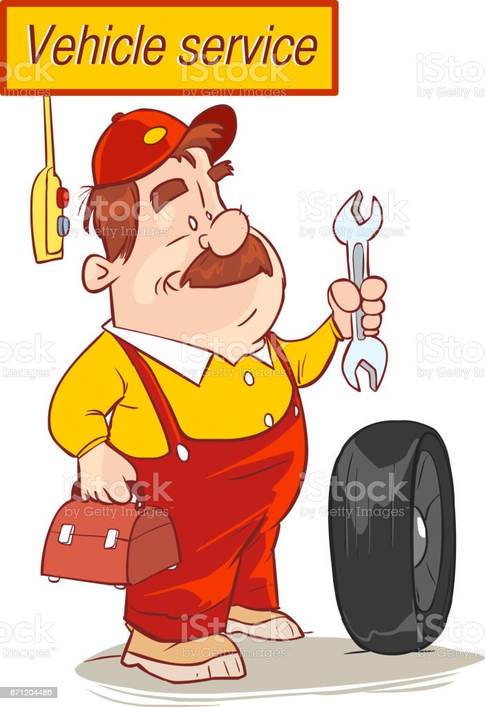 vector illustration of a vehicle service and repairers vector art illustration