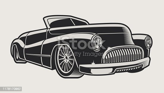 istock Vector illustration of a vintage classic car 1178170952