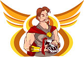 vector illustration of a warrior