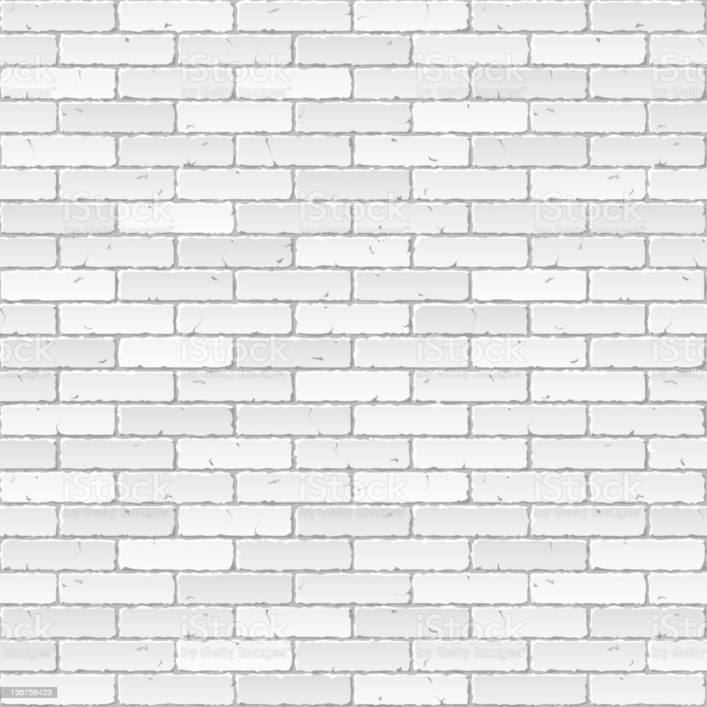 Vector illustration of a white brick wall vector art illustration