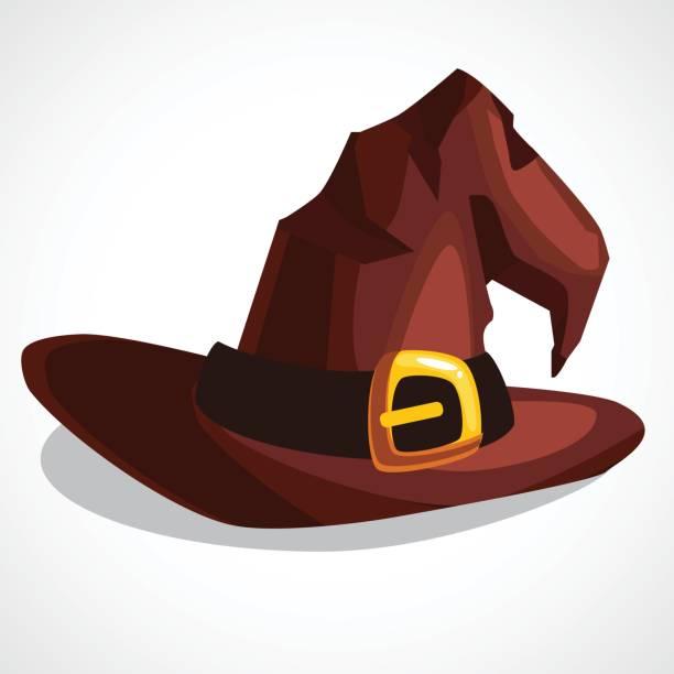 stockillustraties, clipart, cartoons en iconen met vectorillustratie van een heks s hoed - den haag