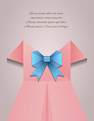 Vector illustration of a woman's dress, a bow