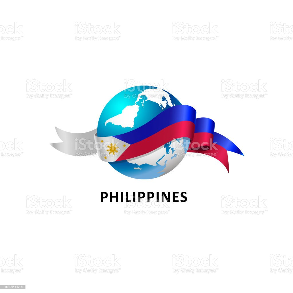 Vector Illustration of a world – world with philippines flag vector art illustration