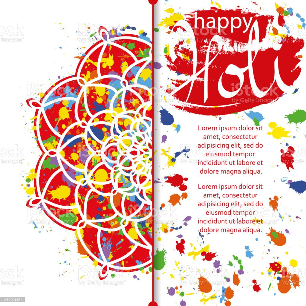 Vector Illustration Of Abstract Colorful Happy Holi Festival ...