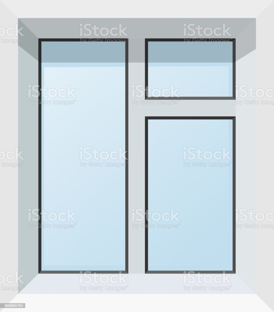 Vector Illustration Of Abstract Modern Plastic Windows