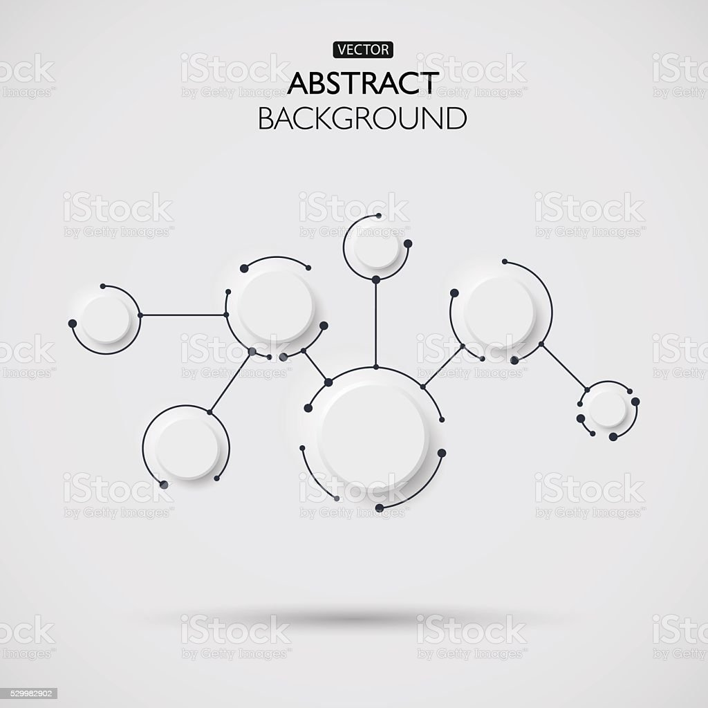 Vector illustration of abstract molecules and communication vector art illustration