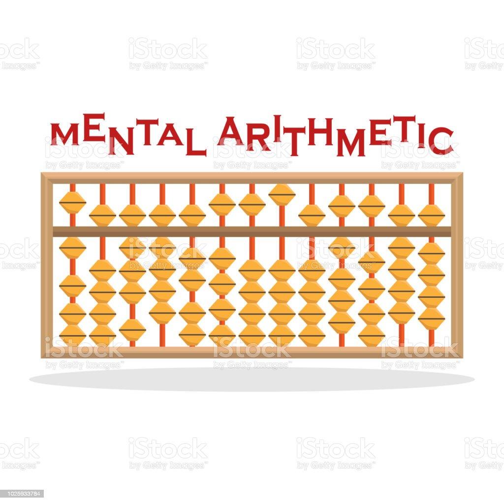 Vector illustration of accounts for mental arithmetic. vector art illustration