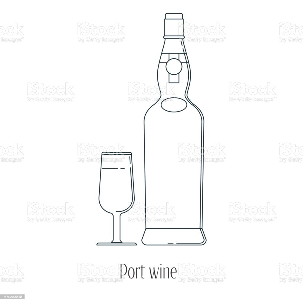 Vector illustration of  alcoholic drinks in bottles and wine glasses on a white background. Line art. royalty-free vector illustration of alcoholic drinks in bottles and wine glasses on a white background line art stock vector art & more images of alcohol