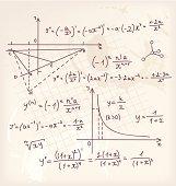 Vector illustration of Algebra doodle background