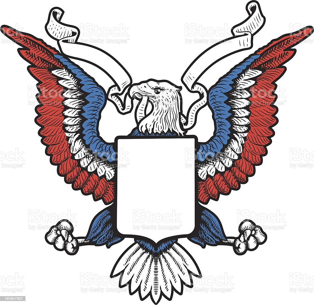 American Eagle Emblem Vector Awesome Graphic Library