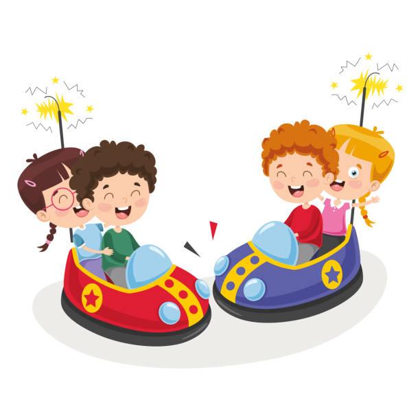 Vector Illustration Of Amusement Park Vector Illustration Of Amusement Park candy clipart stock illustrations