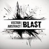 Vector illustration of an abstract explosion.